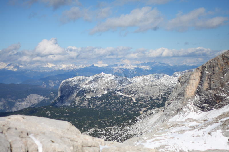 Download View from Dachstein stock image. Image of limestone, alps - 16009089