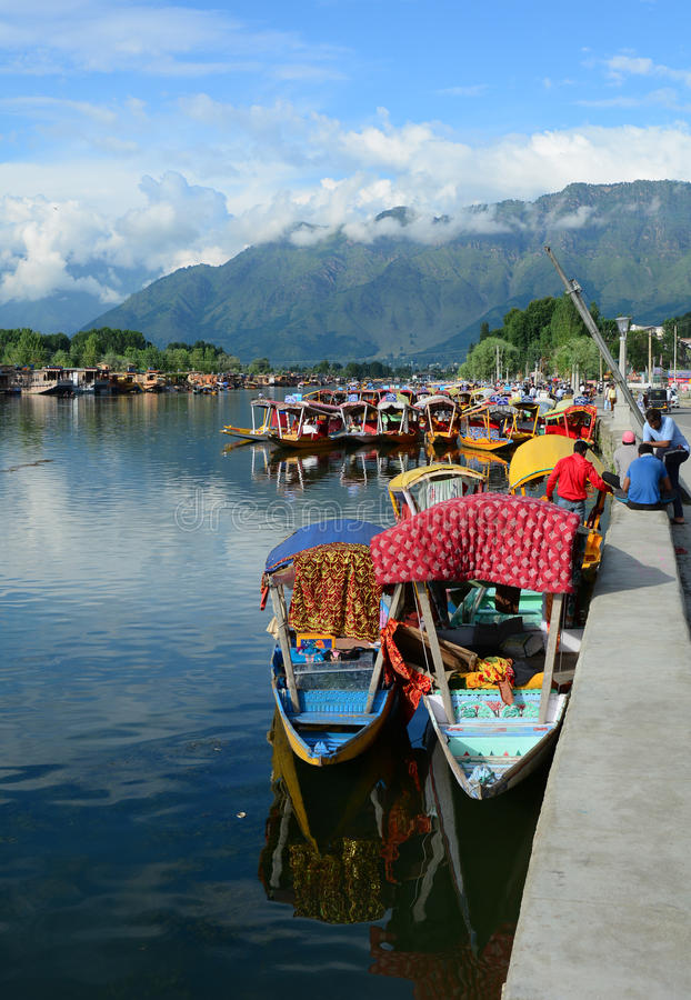 View of the Dal the lake in Srinagar, India royalty free stock photo