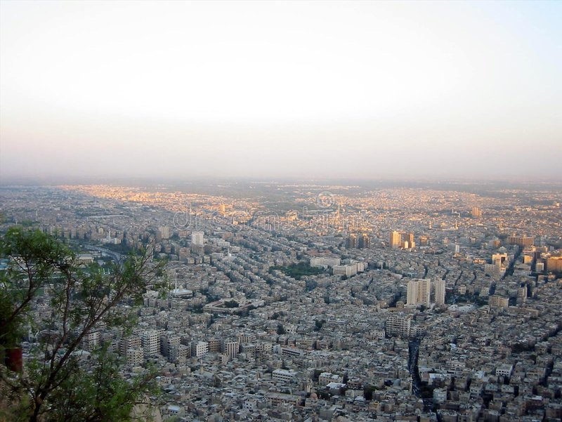 Download View at Damascus stock photo. Image of houses, town, syria - 154214