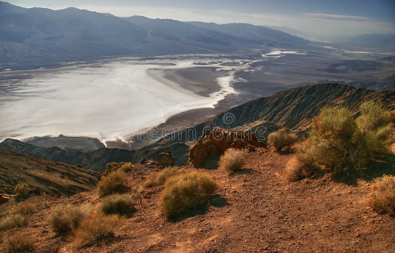 View on Death Valley royalty free stock photo