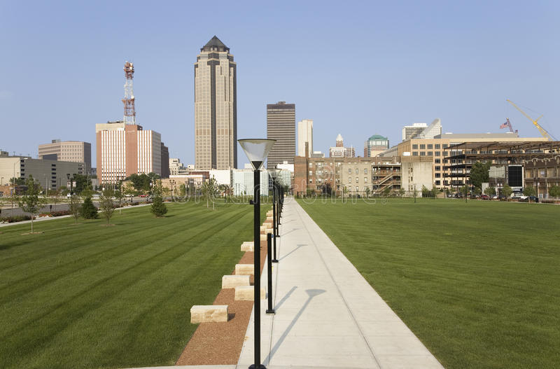 View of Des Moines skyline stock photos
