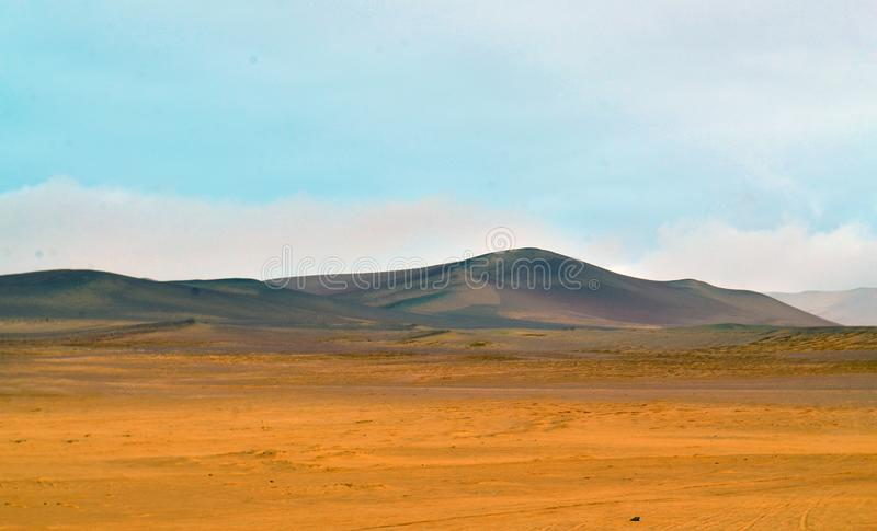 View of a desert in south america royalty free stock photo