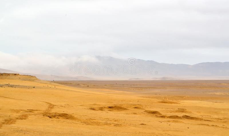 View of a desert in south america stock photos