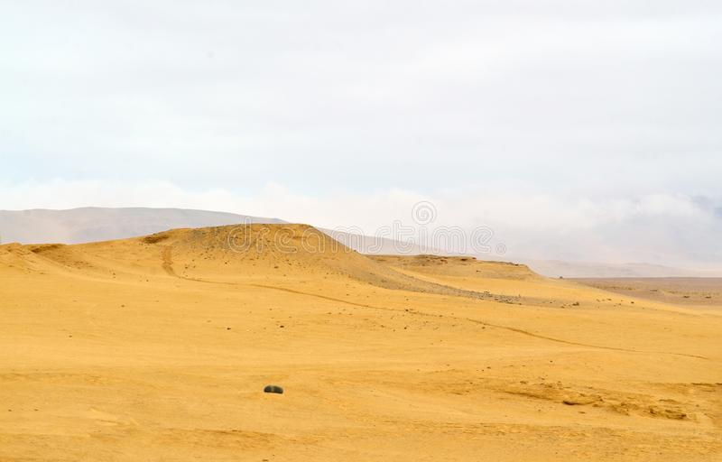 View of a desert in south america stock image