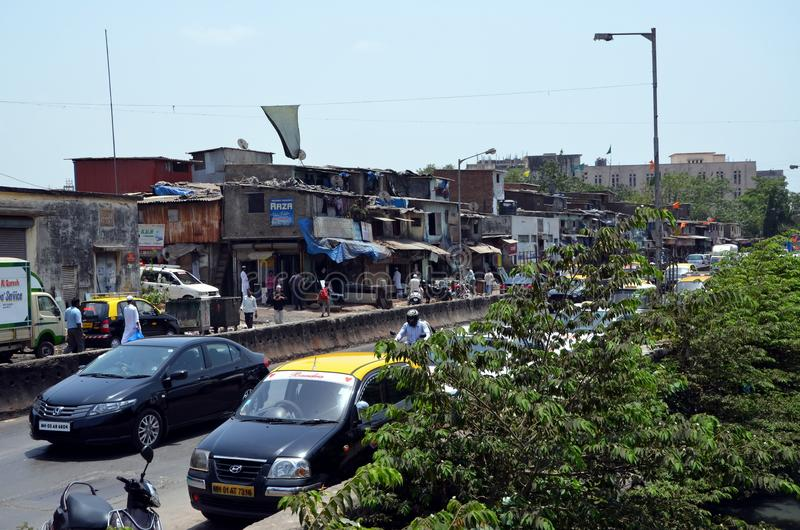 View on Dharavi slums stock image