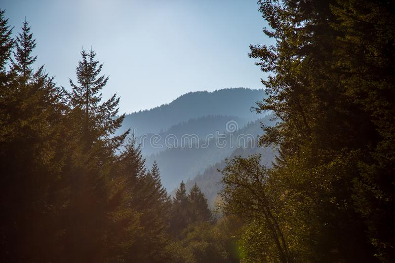 View on distant hills from Opal Pool trailhead royalty free stock photography