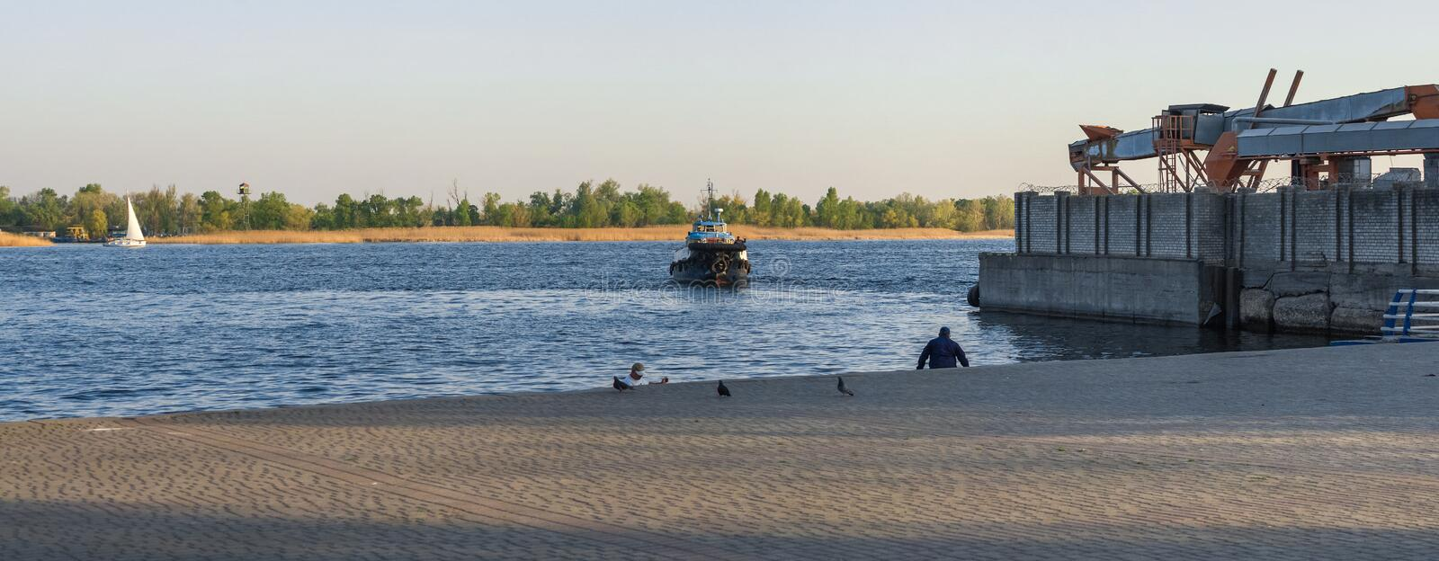View of the Dnieper River in Kherson, Ukraine royalty free stock photo