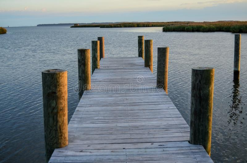 Early Morning on the Dock royalty free stock photography