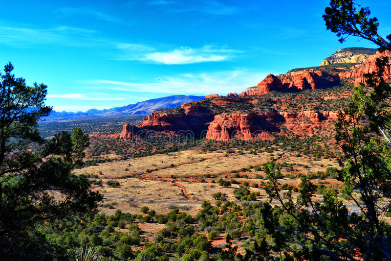 View from Doe Mountain in Sedona. View while hiking up Doe Mountain in Sedona, Arizona stock image