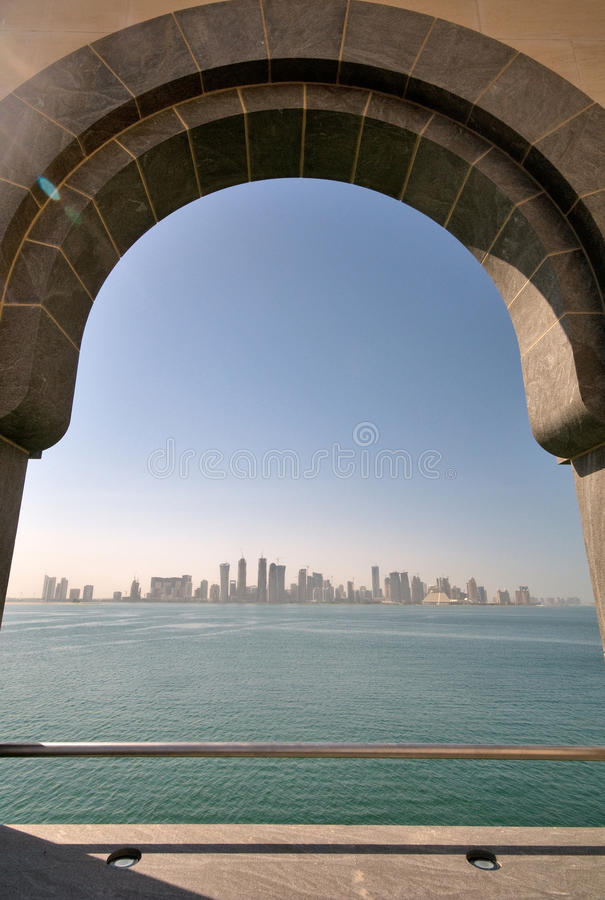 Download View Of Doha City From The Museum Of Islamic Art Stock Image - Image: 19354509