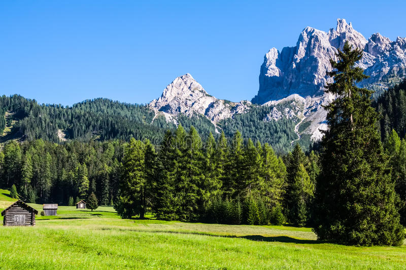 The view of Dolomiti mountain royalty free stock images