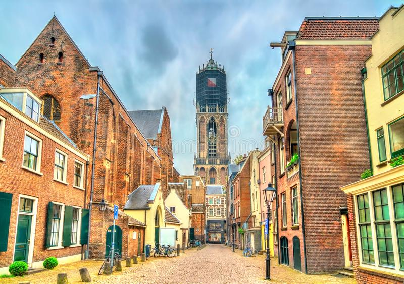 View of the Dom Tower of Utrecht, the Netherlands royalty free stock image