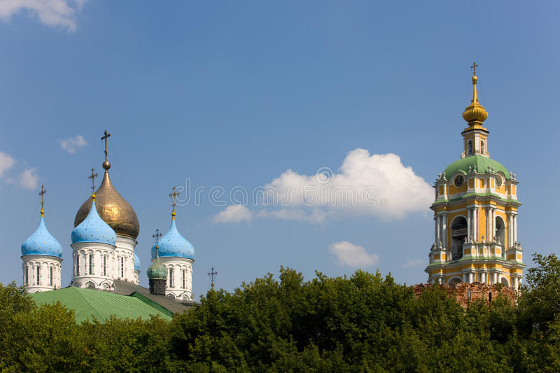 Download View on domes stock image. Image of exterior, blue, monastery - 10534483
