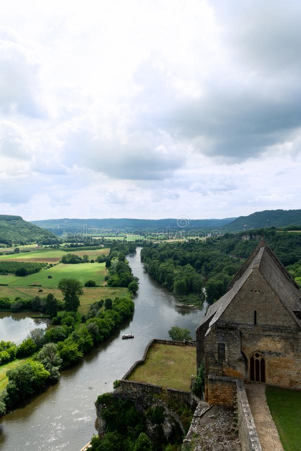 View of the Dordogne valley stock photography