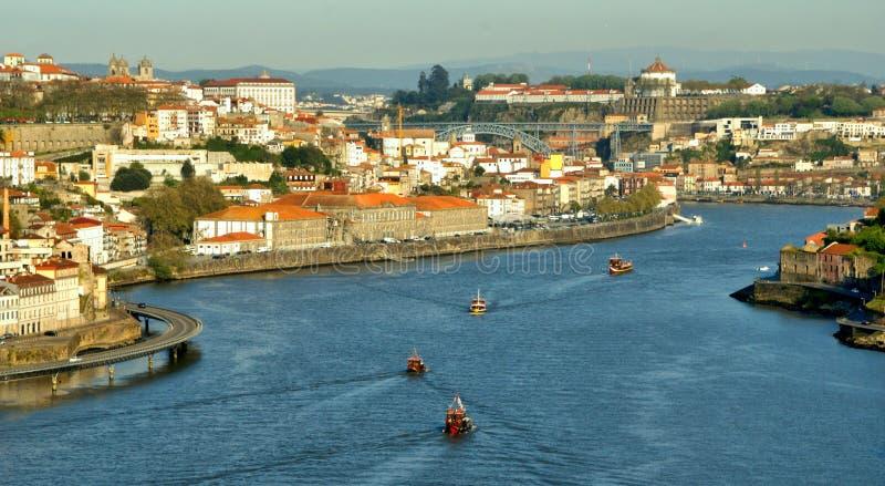 View on Douro River in Porto royalty free stock photo