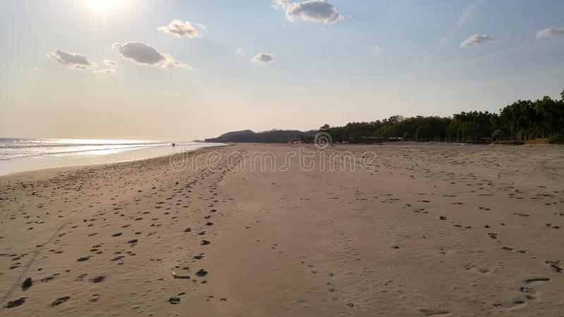 Beach near Popoyo, Nicaragua stock image