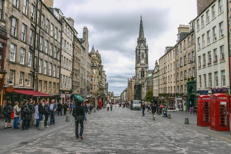 Edinburgh, United Kingdom- Sept. 19, 2011: Oldtown stock photos