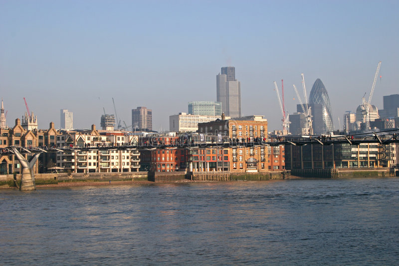 View down River Thames royalty free stock photos