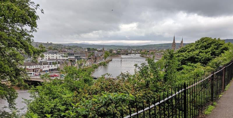 The river Ness in Inverness, Scotland stock photo