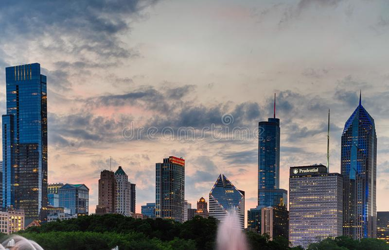 View of downton, Chicago. In the USA royalty free stock images