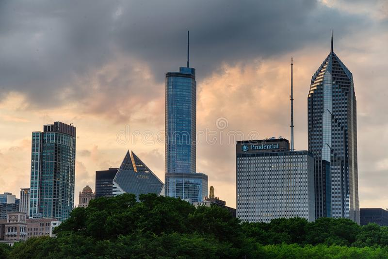 View of downton, Chicago. In the USA royalty free stock photos