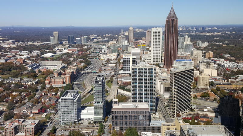 View of downtown Atlanta stock images