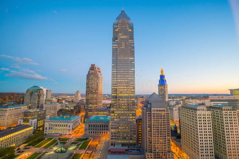 View of downtown Cleveland royalty free stock photo