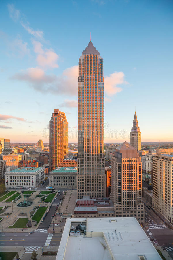 View of downtown Cleveland stock photo