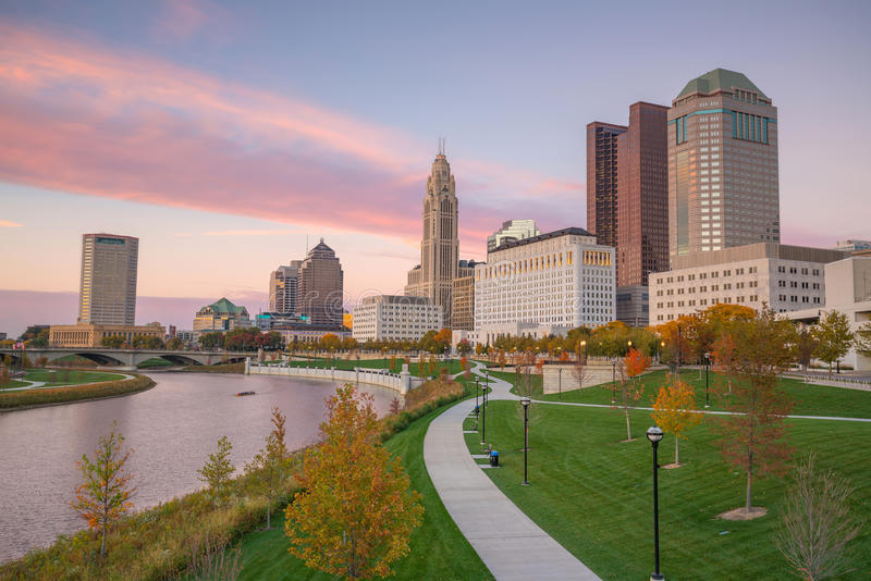 View of downtown Columbus Ohio Skyline stock photo