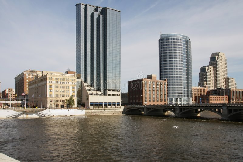 View of downtown Grand Rapids royalty free stock image