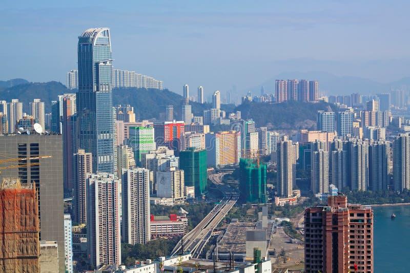 View of Downtown Kowloon Hongkong royalty free stock photo