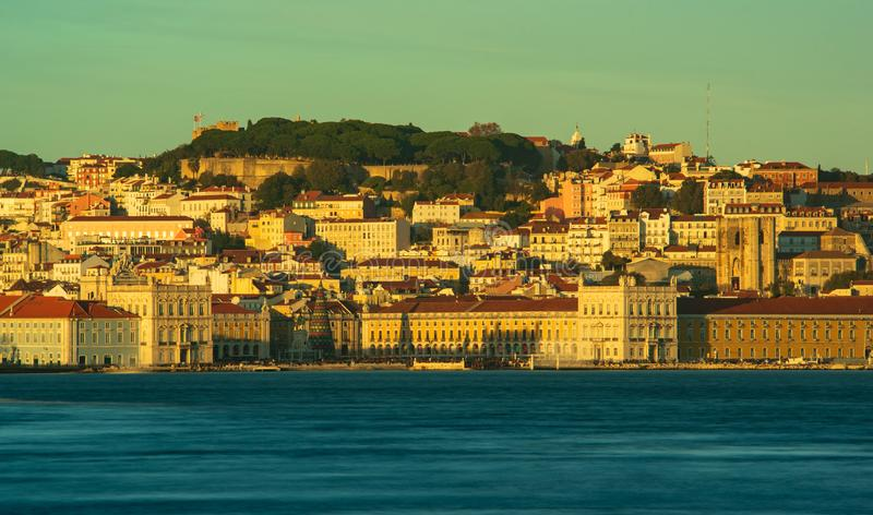 View of downtown Lisbon royalty free stock photo