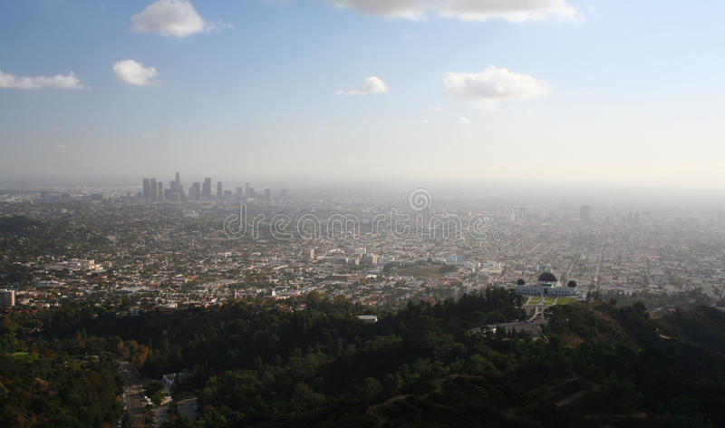 Download View Of Downtown Los Angeles Royalty Free Stock Photography - Image: 23989677