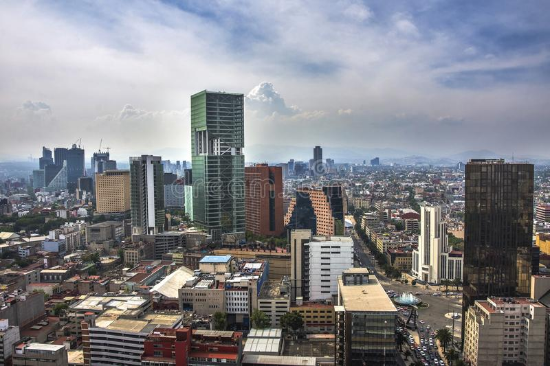 A view of downtown Mexico City, Mexico royalty free stock image