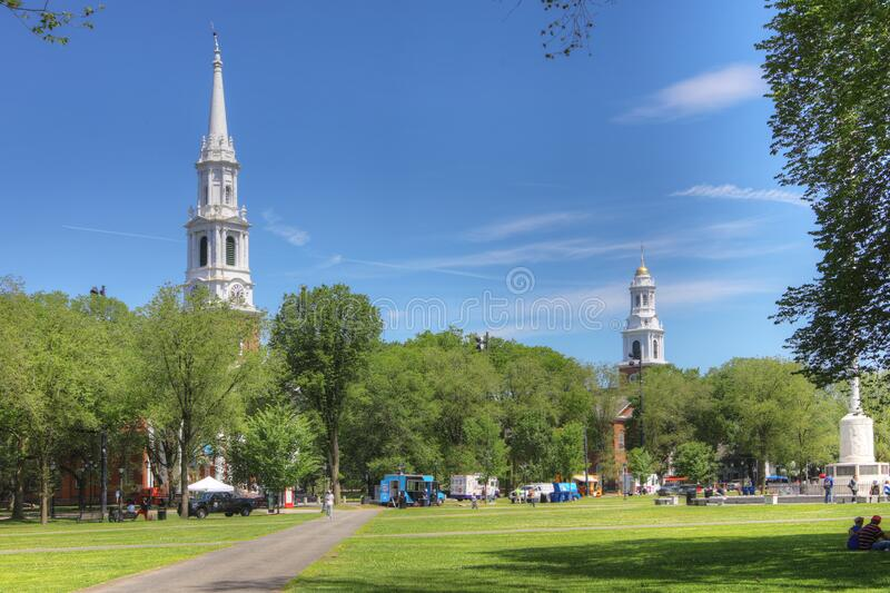 View of downtown New Haven, Connecticut, United States. A View of downtown New Haven, Connecticut, United States royalty free stock photography