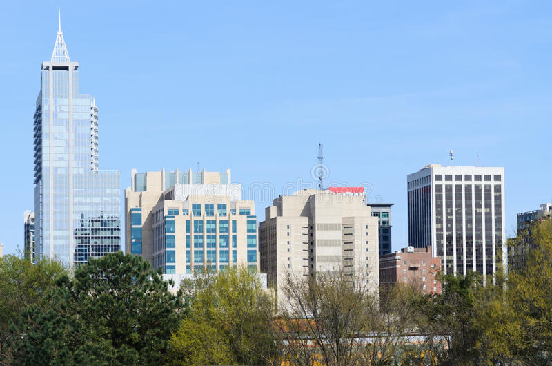 View On Downtown Raleigh Nc Stock Photo Image Of Blue