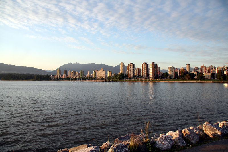 View of downtown vancouver stock photo