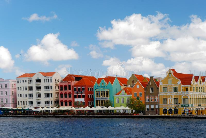 View of downtown Willemstad, Curacao Netherlands Antilles. View of downtown Willemstad, Curacao, Netherlands Antilles royalty free stock image