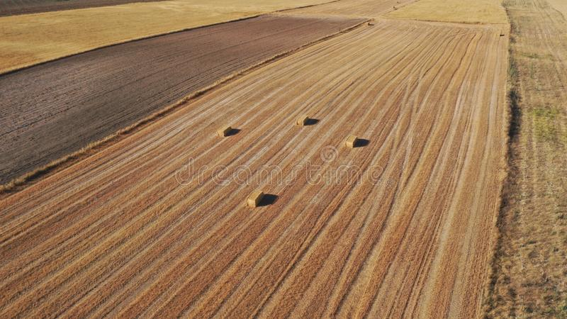 View from the drone of the curious position of the bullets left in the dryness of the ceral stock images