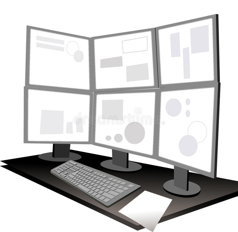 The View Of Dual Core Computer Stock Illustration