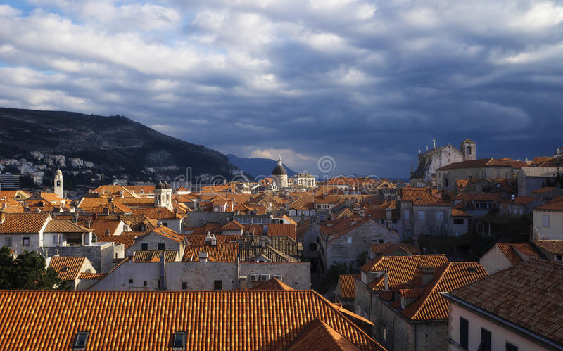 View of Dubrovnik. View from the city walls of Dubrovnik, Croatia royalty free stock photos