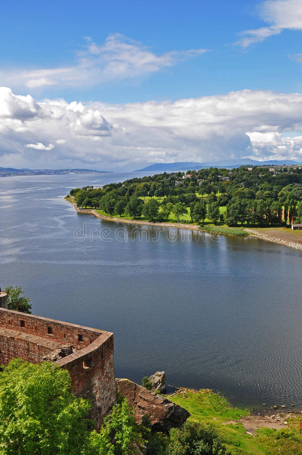 View from Dumbarton Castle stock photography