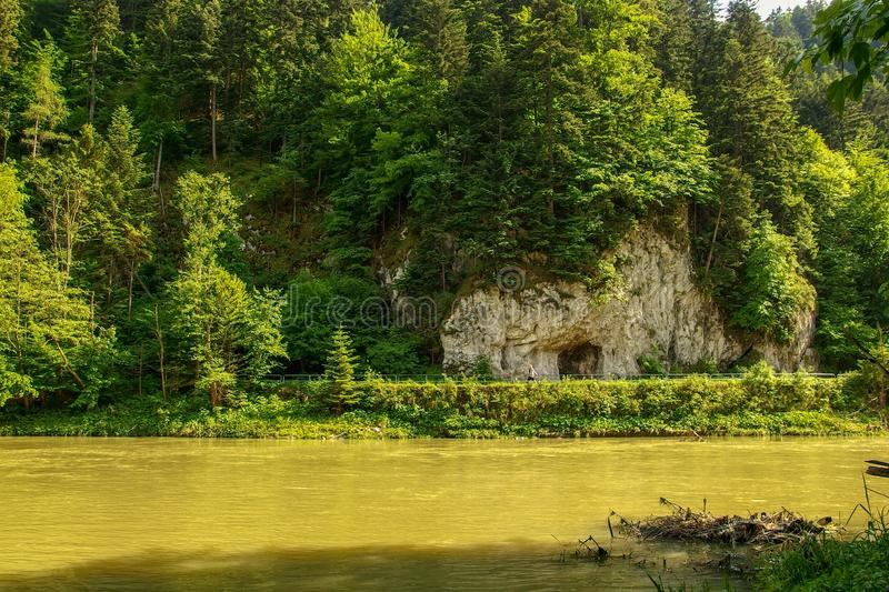 Dunajec river in Pieniny National Park in southern Poland. royalty free stock images