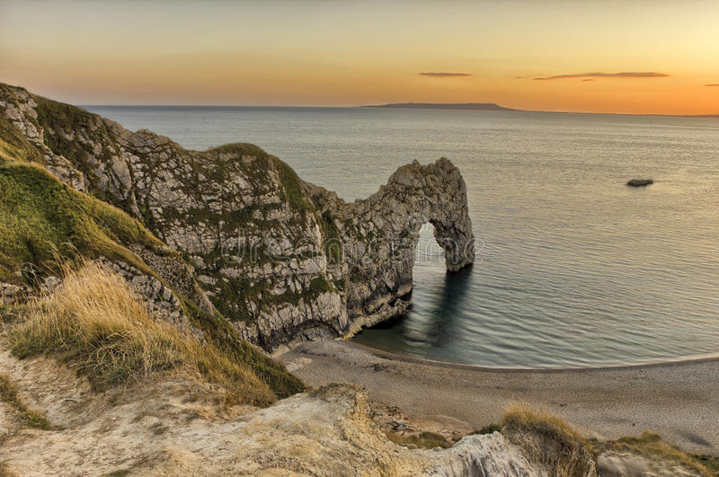 View of Durdle Door in United Kingdom. royalty free stock images