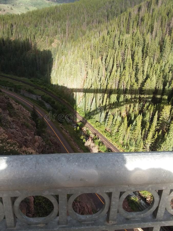 View from eagle River Bridge Colorado rocky mountains August 2017. View from the eagle River Bridge colorado rocky mountains august 2017 stock photos