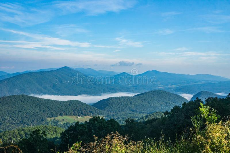 Early Morning Fog on the James River royalty free stock photo