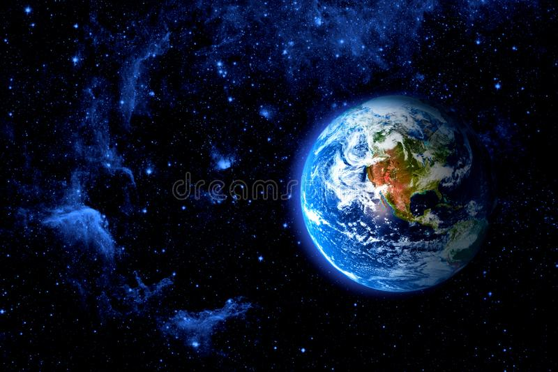 View of the earth from the moon royalty free stock photos