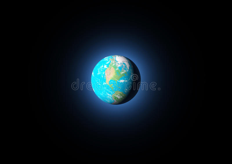 Download View of earth from space stock illustration. Illustration of sphere - 27394381