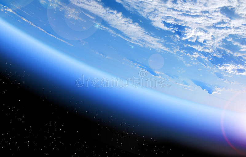 View of Earth from space. View of the Earth from space, blue planet and deep black space