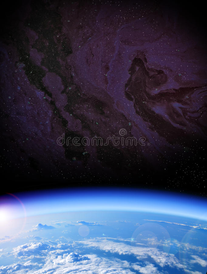 View of Earth from space stock image